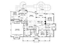 Farmhouse Floor Plan - Main Floor Plan Plan #929-1000