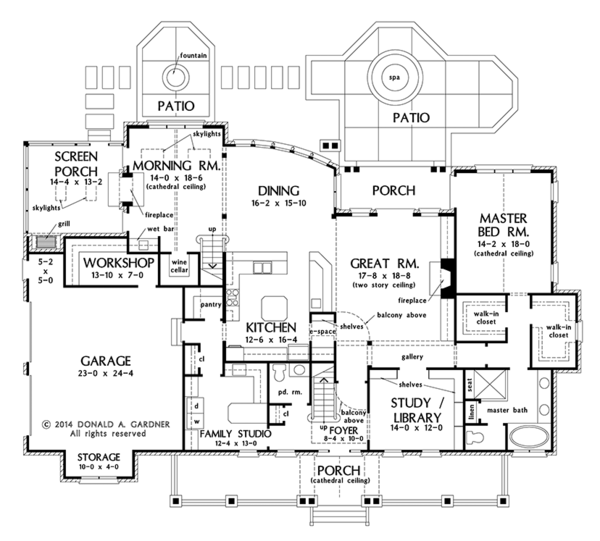 Country Floor Plan - Main Floor Plan Plan #929-1000
