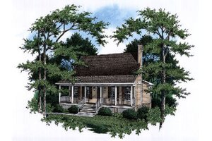 Country Exterior - Front Elevation Plan #41-171