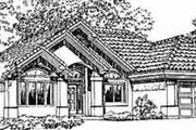 Adobe / Southwestern Style House Plan - 3 Beds 2 Baths 1582 Sq/Ft Plan #1-315 Exterior - Front Elevation