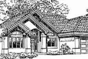 Adobe / Southwestern Exterior - Front Elevation Plan #1-315