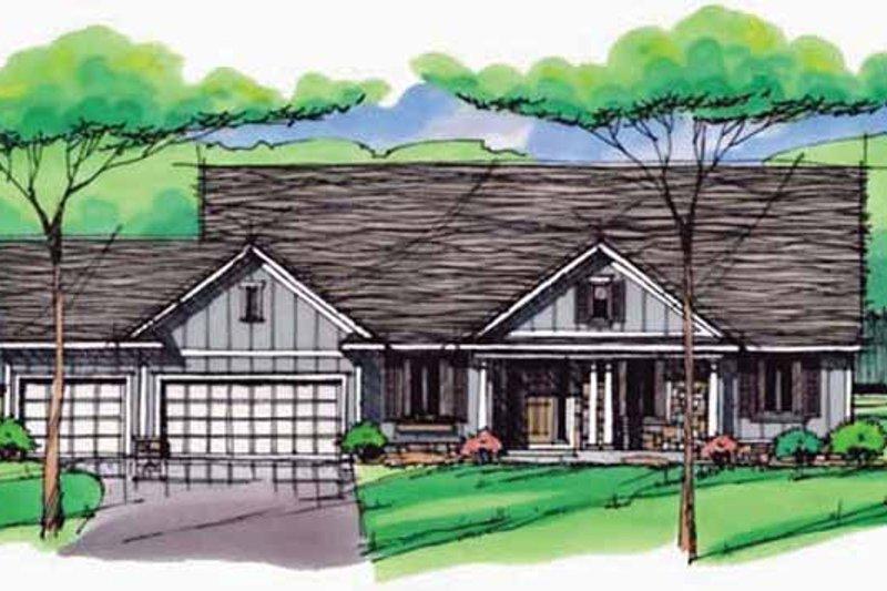 Architectural House Design - European Exterior - Front Elevation Plan #51-991