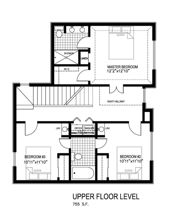 Contemporary Floor Plan - Main Floor Plan Plan #512-4