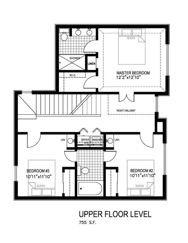 Contemporary Floor Plan - Main Floor Plan Plan #512-4