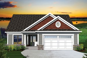 Architectural House Design - Ranch Exterior - Front Elevation Plan #70-1041