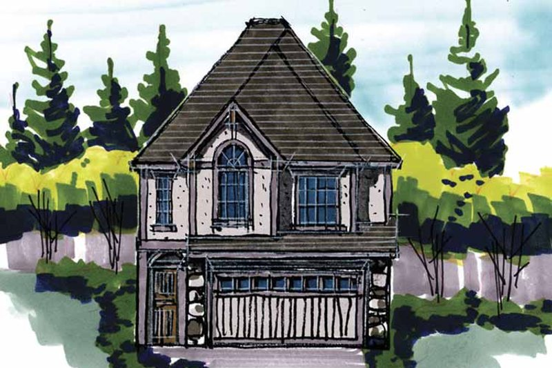 Traditional Exterior - Front Elevation Plan #509-215 - Houseplans.com