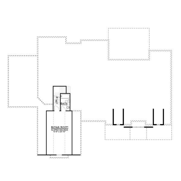 Farmhouse Floor Plan - Upper Floor Plan #1064-116
