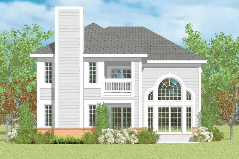 Traditional Exterior - Rear Elevation Plan #72-1094 - Houseplans.com
