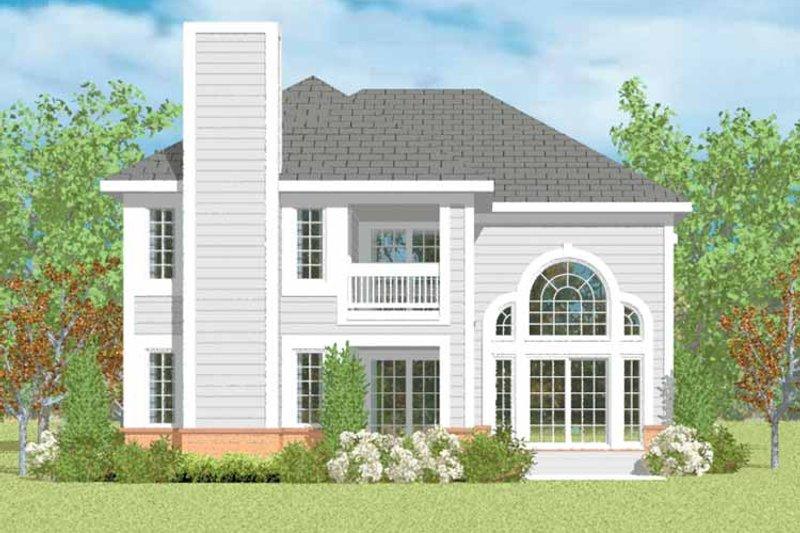 House Blueprint - Traditional Exterior - Rear Elevation Plan #72-1094