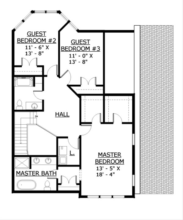 Contemporary Floor Plan - Upper Floor Plan Plan #524-7