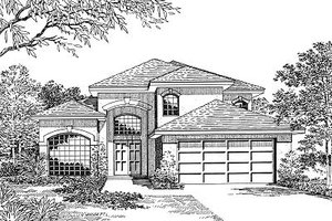 Modern Exterior - Front Elevation Plan #417-212