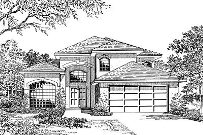 Modern Style House Plan - 4 Beds 2.5 Baths 2182 Sq/Ft Plan #417-212 Exterior - Front Elevation