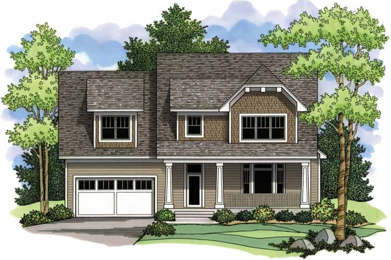 Craftsman Exterior - Front Elevation Plan #51-964