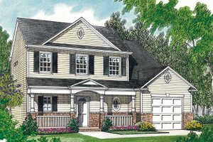 Country Exterior - Front Elevation Plan #453-385