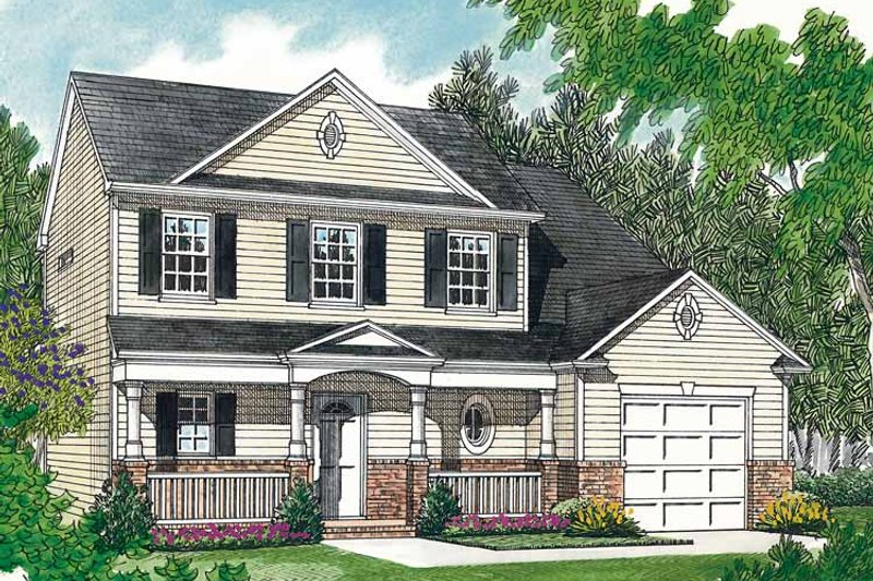 Country Exterior - Front Elevation Plan #453-385 - Houseplans.com