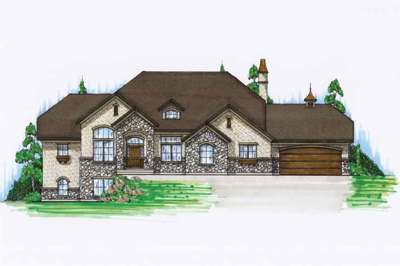 Home Plan - European Exterior - Front Elevation Plan #945-23