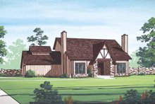 Architectural House Design - European Exterior - Front Elevation Plan #45-419