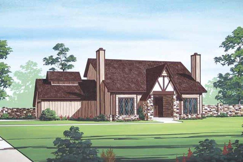 Architectural House Design - European Exterior - Front Elevation Plan #45-419