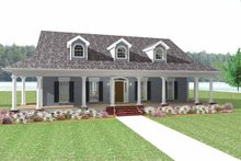 Country Exterior - Front Elevation Plan #44-214