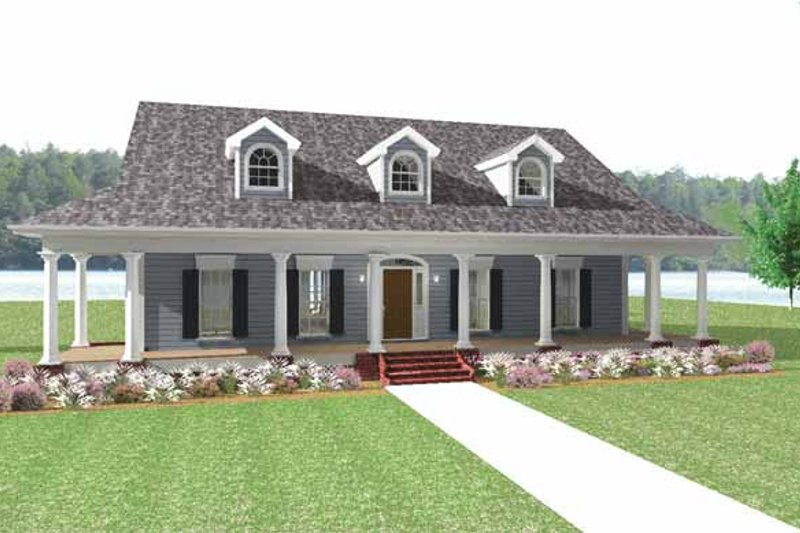Architectural House Design - Country Exterior - Front Elevation Plan #44-214