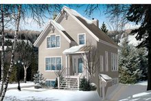 House Plan Design - European Exterior - Front Elevation Plan #23-2491