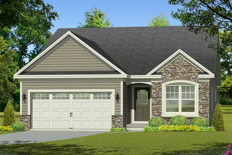 Architectural House Design - Ranch Exterior - Front Elevation Plan #1010-199