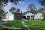 Adobe / Southwestern Style House Plan - 5 Beds 3 Baths 2964 Sq/Ft Plan #1-1157 Exterior - Front Elevation