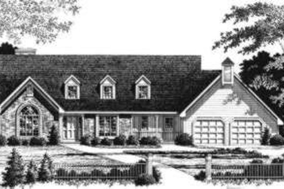 Traditional Exterior - Front Elevation Plan #328-108