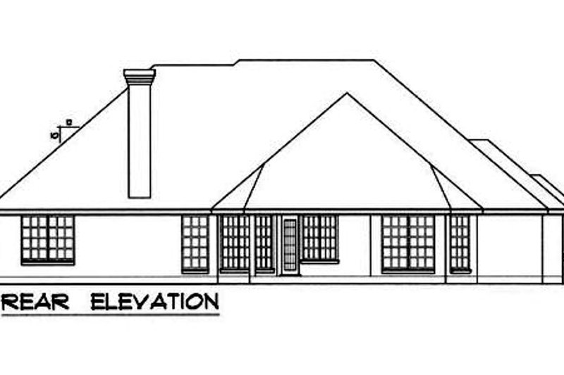 European Exterior - Rear Elevation Plan #40-160 - Houseplans.com
