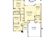 Ranch Style House Plan - 3 Beds 2 Baths 1462 Sq/Ft Plan #930-485