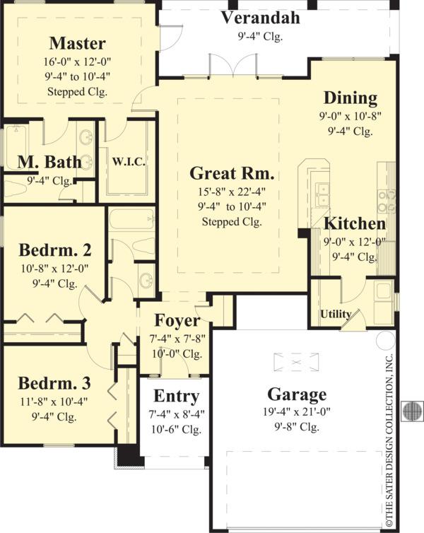 Ranch Floor Plan - Main Floor Plan Plan #930-485