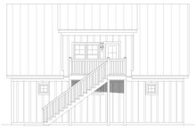 Country Exterior - Rear Elevation Plan #932-91