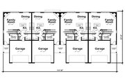 Traditional Style House Plan - 3 Beds 2.5 Baths 2065 Sq/Ft Plan #20-2382 Floor Plan - Main Floor