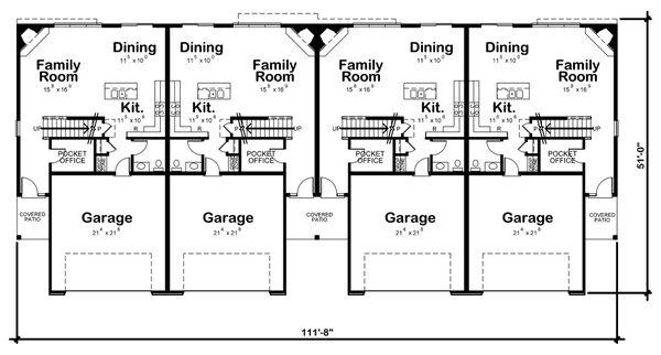 Traditional Floor Plan - Main Floor Plan Plan #20-2382