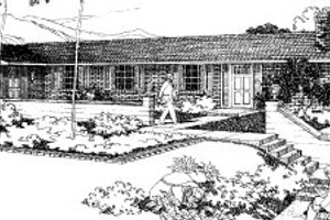 Ranch Exterior - Front Elevation Plan #303-299