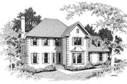 European Style House Plan - 4 Beds 2.5 Baths 2098 Sq/Ft Plan #10-216 Exterior - Front Elevation