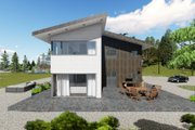 Modern Style House Plan - 5 Beds 5 Baths 3956 Sq/Ft Plan #549-5 Exterior - Other Elevation