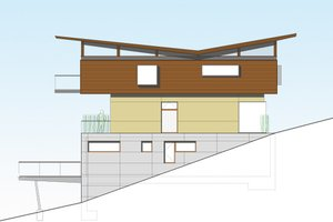 Modern Exterior - Front Elevation Plan #469-1