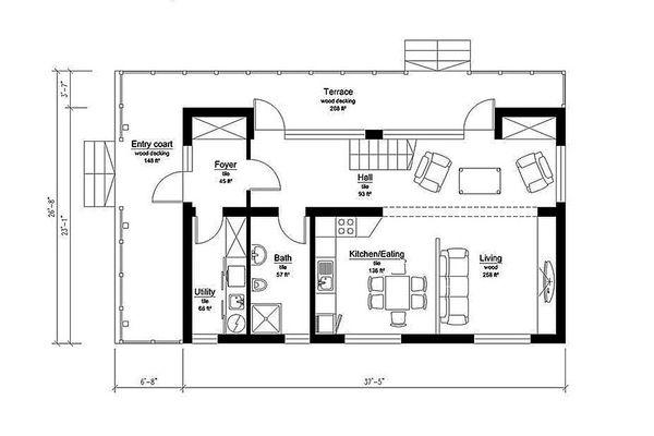 Modern Floor Plan - Main Floor Plan Plan #549-2