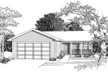 House Plan Design - Ranch Exterior - Other Elevation Plan #70-1014