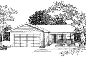 Ranch Exterior - Other Elevation Plan #70-1014