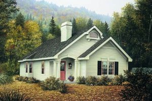Cottage Exterior - Front Elevation Plan #57-193