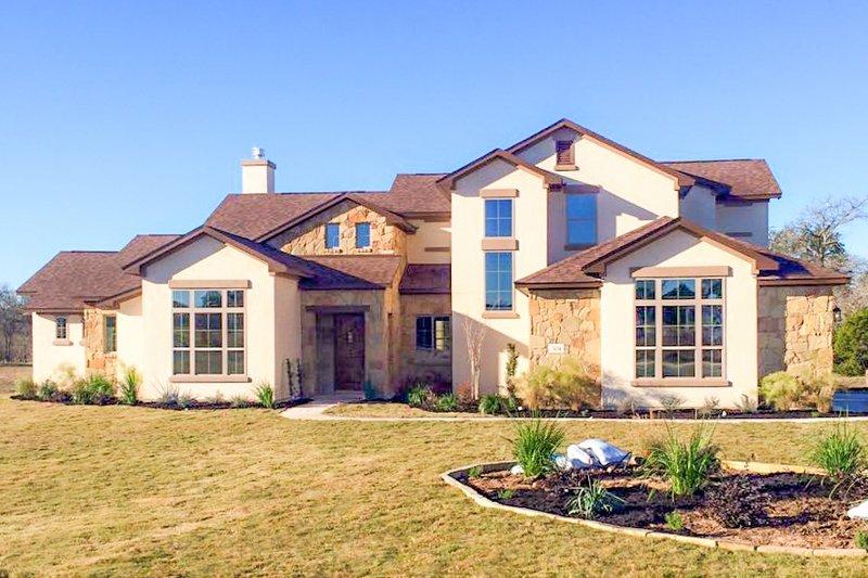 Dream House Plan - Mediterranean Exterior - Front Elevation Plan #80-141