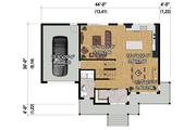 Contemporary Style House Plan - 3 Beds 1 Baths 1686 Sq/Ft Plan #25-4373 Floor Plan - Main Floor Plan