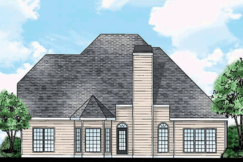 Country Exterior - Rear Elevation Plan #927-8 - Houseplans.com