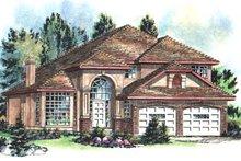 House Blueprint - European Exterior - Front Elevation Plan #18-236