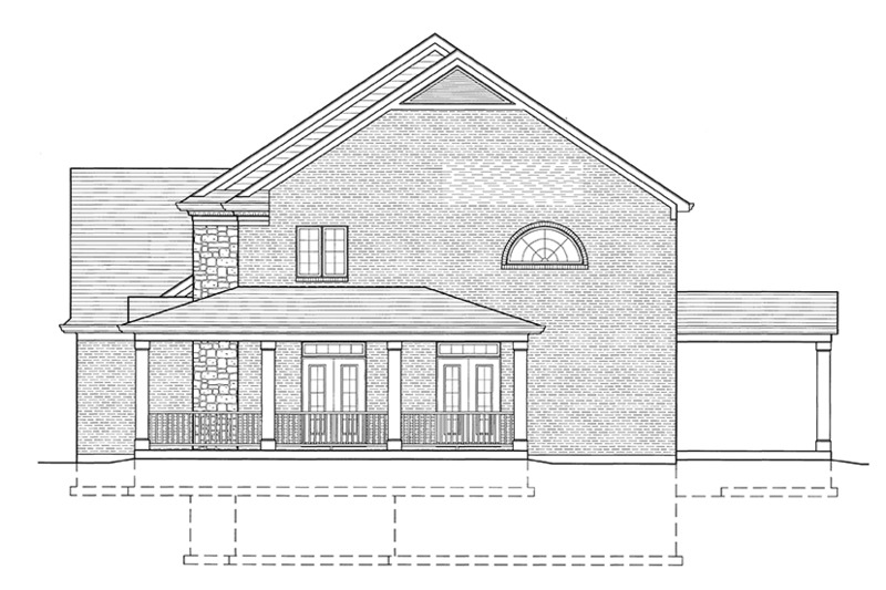Traditional Exterior - Other Elevation Plan #46-848 - Houseplans.com