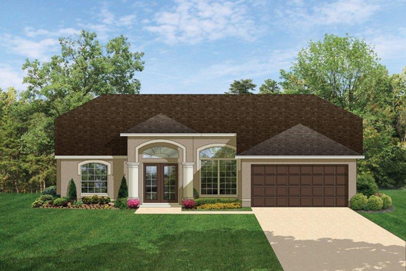 House Plan Design - Mediterranean Exterior - Front Elevation Plan #1058-34
