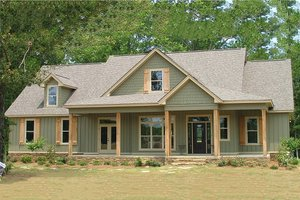 Architectural House Design - Country Exterior - Front Elevation Plan #63-270