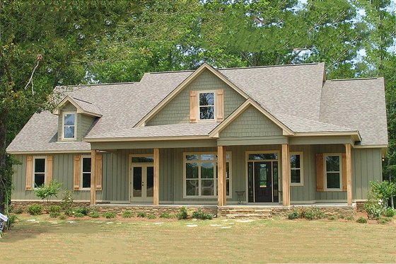 Country Exterior - Front Elevation Plan #63-270